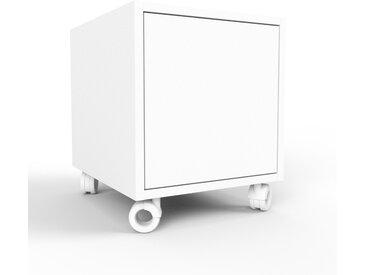 Rollcontainer Weiß - Moderner Rollcontainer: Türen in Weiß - 41 x 41 x 47 cm, konfigurierbar
