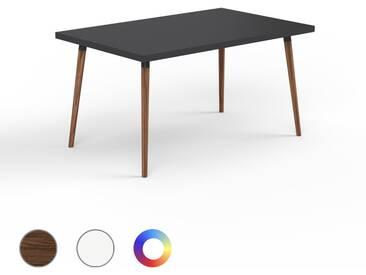 Designer Esstisch Massivholz Schwarz - Individueller Designer-Massivholztisch: Einzigartiges Design - 140 x 75 x 90 cm, Modular