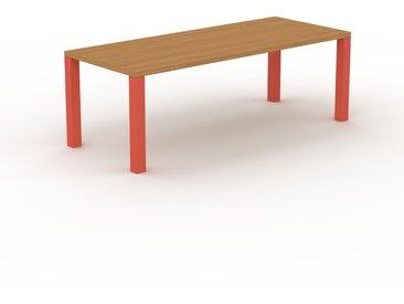 Designer Esstisch Massivholz Eiche, Holz - Individueller Designer-Massivholztisch: Einzigartiges Design - 220 x 76 x 90 cm, Modular
