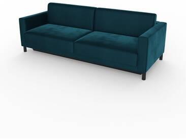 Schlafsofa Nachtblau - Elegantes, gemütliches Bettsofa: Hochwertige Qualität, einzigartiges Design - 224 x 75 x 98 cm, konfigurierbar