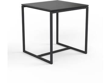 Beistelltisch Rauchglas Schwarz satiniert - Eleganter Nachttisch: Hochwertige Materialien, einzigartiges Design - 42 x 46 x 42 cm, Komplett anpassbar