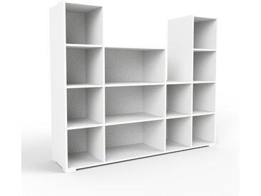 Schallplattenregal Weiß - Modernes Regal für Schallplatten: Hochwertige Qualität, einzigartiges Design - 193 x 158 x 47 cm, Selbst designen