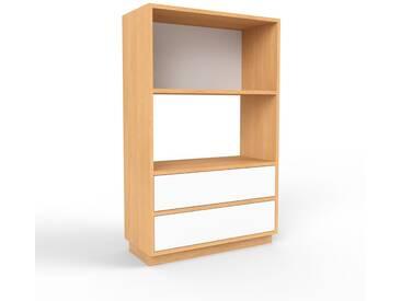 Highboard Buche - Elegantes Highboard: Schubladen in Weiß - Hochwertige Materialien - 77 x 124 x 35 cm, Selbst designen