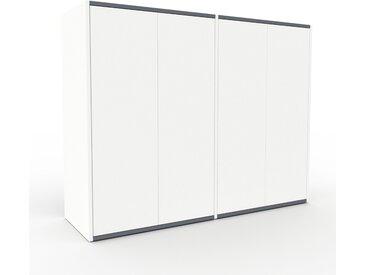 Highboard Weiß - Elegantes Highboard: Türen in Weiß - Hochwertige Materialien - 152 x 118 x 47 cm, Selbst designen