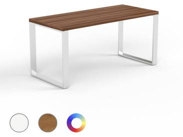Designer Esstisch Massivholz Nussbaum, Holz - Individueller Designer-Massivholztisch: Einzigartiges Design - 160 x 75 x 70 cm, Modular