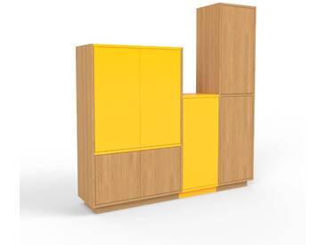 Highboard Eiche - Elegantes Highboard: Türen in Eiche - Hochwertige Materialien - 154 x 162 x 35 cm, Selbst designen