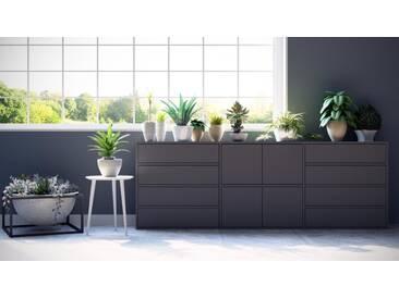 Sideboard Grau - Sideboard: Schubladen in Grau & Türen in Grau - Hochwertige Materialien - 226 x 80 x 35 cm, konfigurierbar