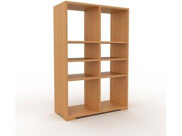 Schallplattenregal Eiche, Holz - Modernes Regal für Schallplatten: Hochwertige Qualität, einzigartiges Design - 79 x 120 x 35 cm, Selbst designen