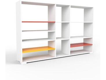 Schallplattenregal Weiß - Modernes Regal für Schallplatten: Hochwertige Qualität, einzigartiges Design - 190 x 120 x 35 cm, Selbst designen
