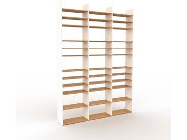 Schallplattenregal Weiß - Modernes Regal für Schallplatten: Hochwertige Qualität, einzigartiges Design - 226 x 310 x 35 cm, Selbst designen