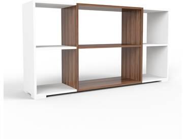 Bücherregal Weiß - Modernes Regal für Bücher: Hochwertige Qualität, einzigartiges Design - 154 x 81 x 35 cm, Individuell konfigurierbar