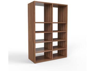 Bücherregal Nussbaum, Holz - Modernes Regal für Bücher: Hochwertige Qualität, einzigartiges Design - 79 x 118 x 35 cm, konfigurierbar