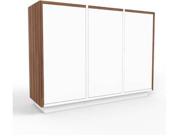 Sideboard Weiß - Designer-Sideboard: Türen in Weiß - Hochwertige Materialien - 118 x 85 x 35 cm, Individuell konfigurierbar