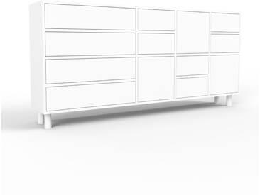 Sideboard Weiß - Sideboard: Schubladen in Weiß & Türen in Weiß - Hochwertige Materialien - 193 x 91 x 35 cm, konfigurierbar