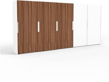 Kleiderschrank Weiß - Individueller Designer-Kleiderschrank - 504 x 233 x 65 cm, Selbst Designen, Kleiderstange/hohe Schublade/Schublade Glasfront/Kleiderlift/Hosenhalter