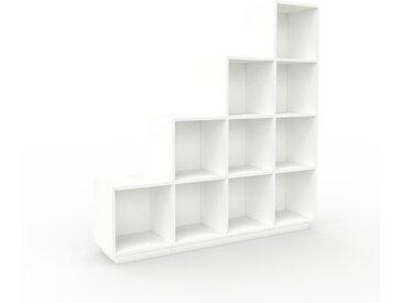 Schallplattenregal Weiß - Modernes Regal für Schallplatten: Hochwertige Qualität, einzigartiges Design - 156 x 162 x 35 cm, Selbst designen