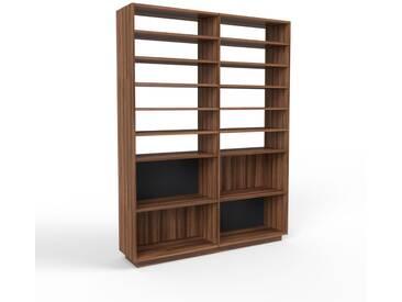 Bücherregal Nussbaum, Holz - Modernes Regal für Bücher: Hochwertige Qualität, einzigartiges Design - 152 x 200 x 35 cm, konfigurierbar