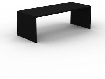 Schreibtisch Massivholz Schwarz - Moderner Massivholz-Schreibtisch: Einzigartiges Design - 220 x 75 x 90 cm, konfigurierbar