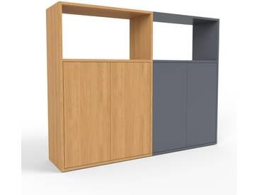 Highboard Eiche - Elegantes Highboard: Türen in Eiche - Hochwertige Materialien - 152 x 118 x 35 cm, Selbst designen