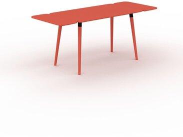 Schreibtisch Massivholz Rot - Moderner Massivholz-Schreibtisch: Einzigartiges Design - 180 x 75 x 70 cm, konfigurierbar