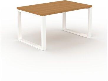 Schreibtisch Massivholz Eiche, Holz - Moderner Massivholz-Schreibtisch: Einzigartiges Design - 140 x 75 x 90 cm, konfigurierbar