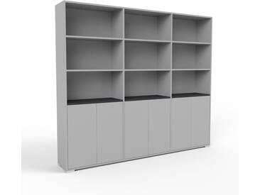 Highboard Grau - Elegantes Highboard: Türen in Grau - Hochwertige Materialien - 226 x 196 x 35 cm, Selbst designen