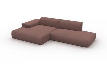 Ecksofa Samt Bonbonrosa - Flexible Designer-Polsterecke, L-Form: Beste Qualität, einzigartiges Design - 310 x 72 x 168 cm, konfigurierbar