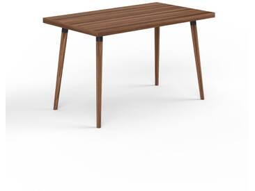Designer Esstisch Massivholz Nussbaum, Holz - Individueller Designer-Massivholztisch: Einzigartiges Design - 120 x 75 x 70 cm, Modular