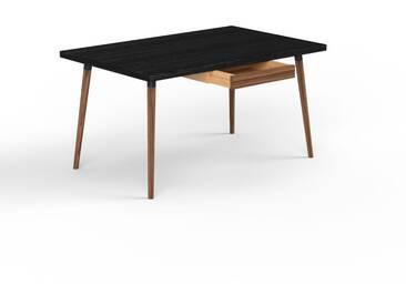 Schreibtisch Massivholz Wenge - Moderner Massivholz-Schreibtisch: mit 1 Schublade/n - Hochwertige Materialien - 140 x 75 x 90 cm, konfigurierbar