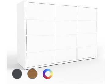 Kommode Weiß - Design-Lowboard: Türen in Weiß - Hochwertige Materialien - 116 x 80 x 35 cm, Selbst zusammenstellen