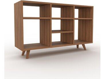 Schallplattenregal Nussbaum, Holz - Modernes Regal für Schallplatten: Hochwertige Qualität, einzigartiges Design - 118 x 72 x 35 cm, Selbst designen
