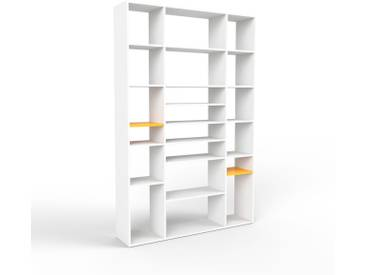 Bücherregal Weiß - Modernes Regal für Bücher: Hochwertige Qualität, einzigartiges Design - 154 x 233 x 35 cm, Individuell konfigurierbar