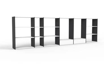 Highboard Schwarz - Elegantes Highboard: Schubladen in Weiß - Hochwertige Materialien - 414 x 118 x 35 cm, Selbst designen