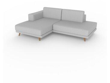 Ecksofa Lichtgrau - Flexible Designer-Polsterecke, L-Form: Beste Qualität, einzigartiges Design - 224 x 75 x 162 cm, konfigurierbar