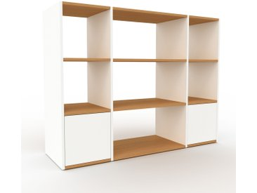 Regalsystem Weiß - Flexibles Regalsystem: Türen in Weiß - Hochwertige Materialien - 154 x 118 x 47 cm, Komplett anpassbar