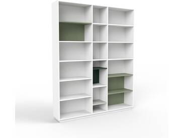 Aktenregal Weiß - Flexibles Büroregal: Hochwertige Qualität, einzigartiges Design - 190 x 239 x 35 cm, konfigurierbar