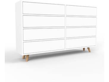 Kommode Weiß - Design-Lowboard: Schubladen in Weiß - Hochwertige Materialien - 152 x 91 x 35 cm, Selbst zusammenstellen