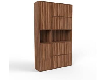 Aktenschrank Nussbaum - Flexibler Büroschrank: Türen in Nussbaum - Hochwertige Materialien - 116 x 195 x 35 cm, Modular