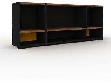 Schallplattenregal Schwarz - Modernes Regal für Schallplatten: Hochwertige Qualität, einzigartiges Design - 154 x 62 x 35 cm, Selbst designen
