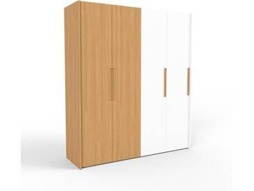 Kleiderschrank Eiche/Weiß - Individueller Designer-Kleiderschrank - 204 x 233 x 62 cm, Selbst Designen, nur bei MYCS