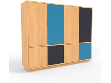 Highboard Buche - Elegantes Highboard: Türen in Buche - Hochwertige Materialien - 152 x 124 x 35 cm, Selbst designen