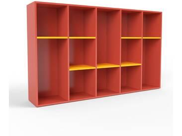 Wohnwand Rot - Individuelle Designer-Regalwand: Hochwertige Qualität, einzigartiges Design - 195 x 118 x 35 cm, Konfigurator
