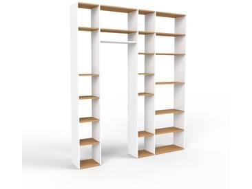 Bücherregal Weiß - Modernes Regal für Bücher: Hochwertige Qualität, einzigartiges Design - 229 x 272 x 35 cm, Individuell konfigurierbar