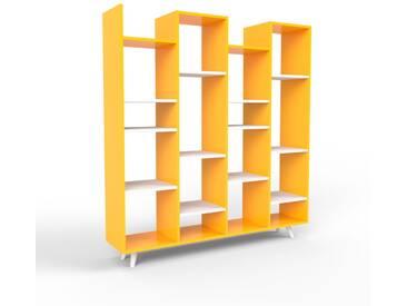 Bücherregal Gelb - Modernes Regal für Bücher: Hochwertige Qualität, einzigartiges Design - 156 x 168 x 35 cm, Individuell konfigurierbar