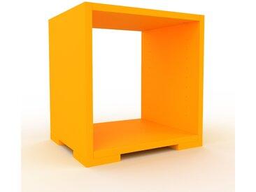 Schallplattenregal Gelb - Modernes Regal für Schallplatten: Hochwertige Qualität, einzigartiges Design - 41 x 43 x 35 cm, Selbst designen