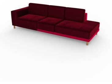 Sofa Brombeerrot - Moderne Designer-Couch: Hochwertige Qualität, einzigartiges Design - 264 x 75 x 98 cm, Komplett anpassbar