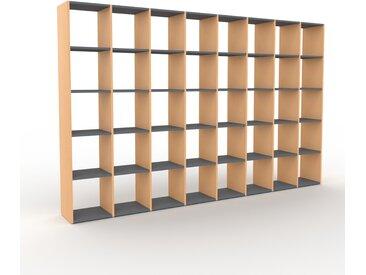Bücherregal Buche, Holz - Modernes Regal für Bücher: Hochwertige Qualität, einzigartiges Design - 310 x 195 x 35 cm, konfigurierbar