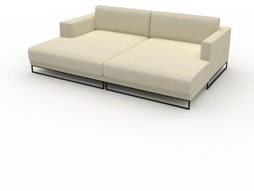 Ledersofa Cremeweiß Veganes Leder - Elegantes, gemütliches Ledersofa: Hochwertige Qualität, einzigartiges Design - 236 x 75 x 162 cm, konfigurierbar