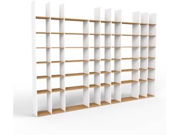 Bücherregal Weiß - Modernes Regal für Bücher: Hochwertige Qualität, einzigartiges Design - 421 x 291 x 35 cm, Individuell konfigurierbar