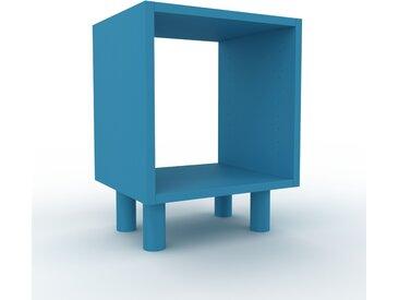 Schallplattenregal Blau - Modernes Regal für Schallplatten: Hochwertige Qualität, einzigartiges Design - 41 x 53 x 35 cm, Selbst designen